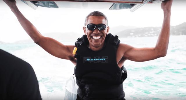 Obama se divierte de lo lindo en sus vacaciones