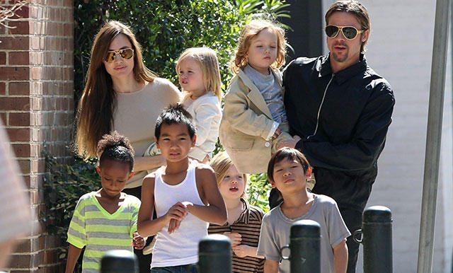 Brad Pitt viaja en secreto para estar con sus hijos