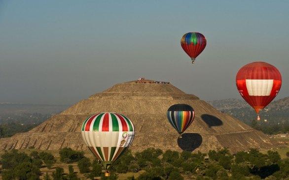 Aerostáticos adornarán cielo de Teotihuacán