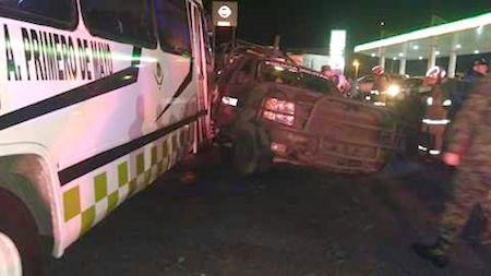 Cinco soldados heridos tras el choque de camión de pasajeros y un vehículo militar