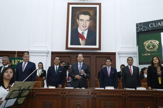 Rector de la UAEM Jorge Olvera rinde su último informe de gobierno