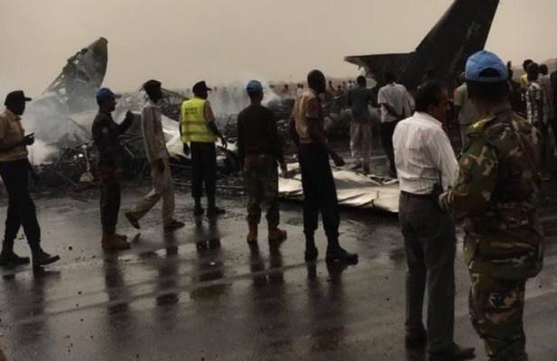 Avión se estrella en Sudán del Sur; hay 11 heridos
