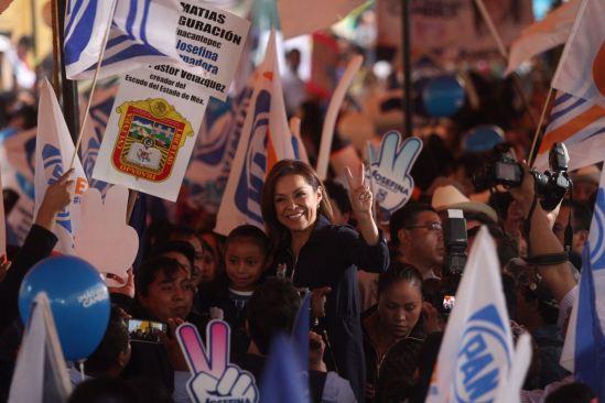 Con la fuerza de los votos sacaremos al PRI del Palacio de Gobierno: Josefina Vázquez Mota