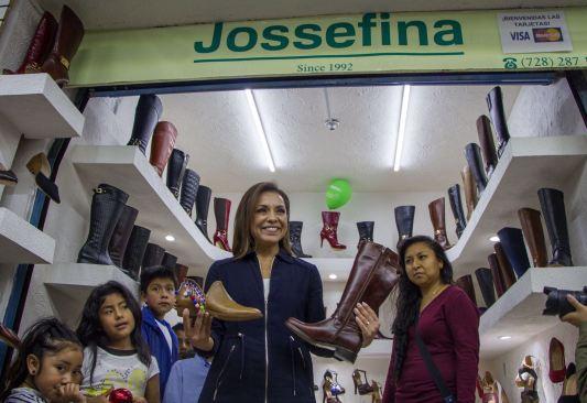 Josefina Vázquez Mota busca impulsar la industria del calzado de San Mateo Atenco