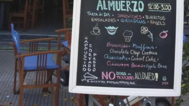 No admite ni perros ni mexicanos bar de Uruguay