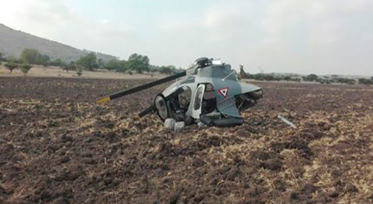 Se desploma helicóptero en Edomex