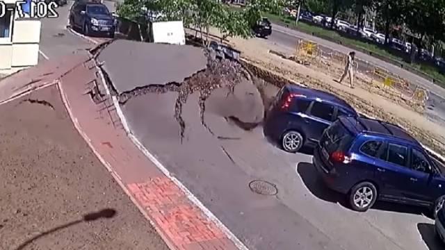 Explosión de una tubería en Ucrania provocó una inundación
