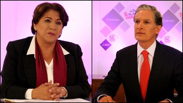 Encuestas colocan a Del Mazo y Delfina Gómez a la cabeza