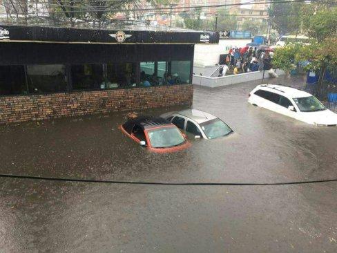 Inundaciones en la CDMX por fuertes lluvias