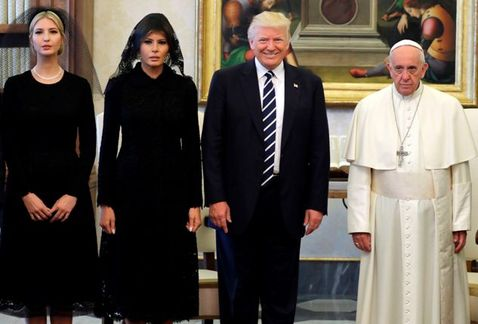 Papa Francisco recibe a Donald Trump en el Vaticano