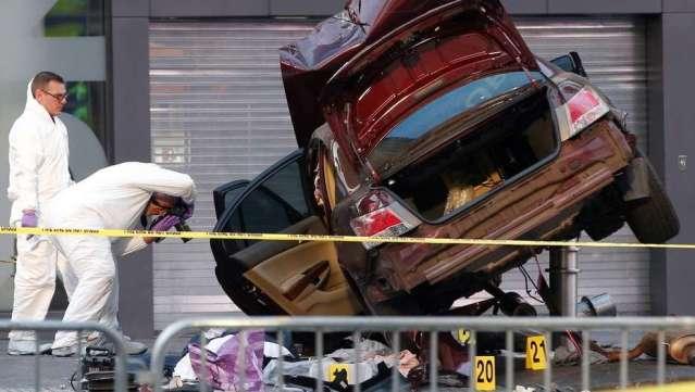 """Así atacó el """"asesino al volante"""" en Times Square (video)"""