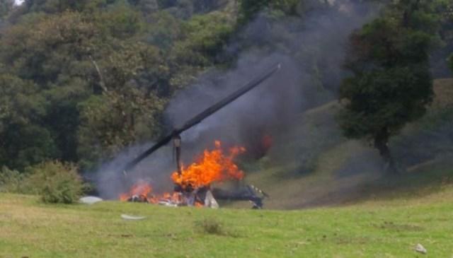 Cae helicóptero en Veracruz deja tres lesionados