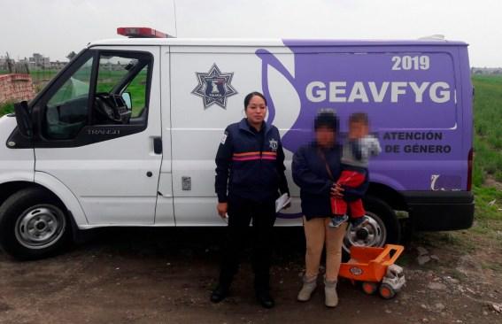 Grupo GEAVFyG apoya a menor extraviado y localiza a su familia