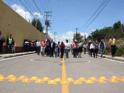 Rehabilitan caminos en Tenango del Valler en beneficio de 5 mil 400 habitantes