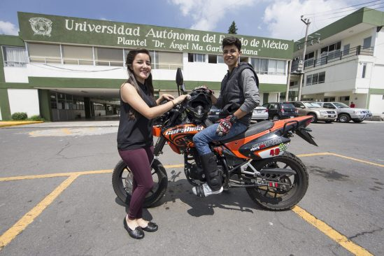 Estudiante UAEM desarrolla protectores para motociclistas