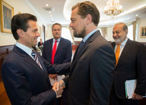Enrique Peña Nieto recibe al ambientalista Leonardo DiCaprio