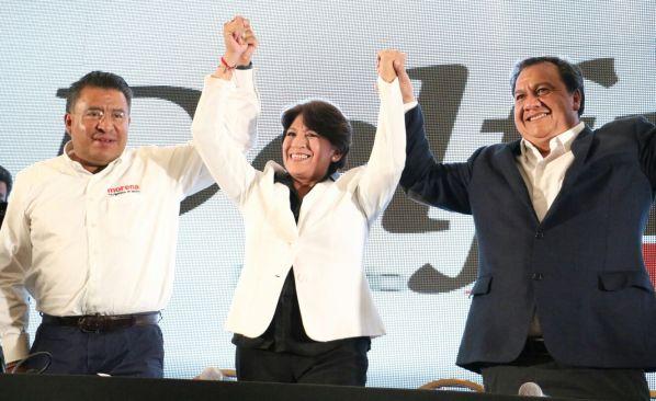 Asegura Delfina que gano la elección en el Estado de México