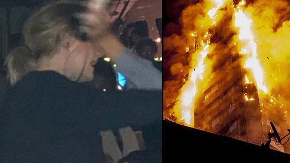 Adele visita a damnificados por incendio en Londres
