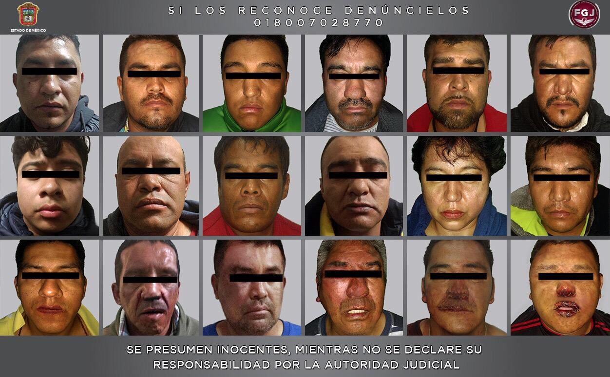Desarticulan banda de ladrones en el Estado de México