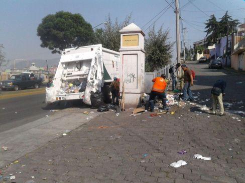 Intensifica Toluca labores de recolección de basura