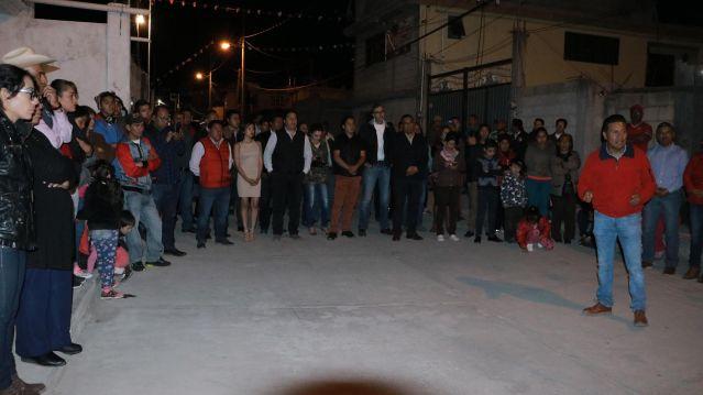 Inauguran electrificación en San Juan de las Huertas, Zinacantepec