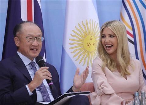 Ocupa Ivanka Trump brevemente el puesto de su padre en el G20