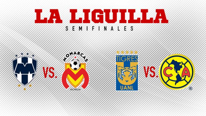 Liguilla MX 2017: Fechas y horarios de las semifinales Monterrey vs Morelia y Tigres vs América