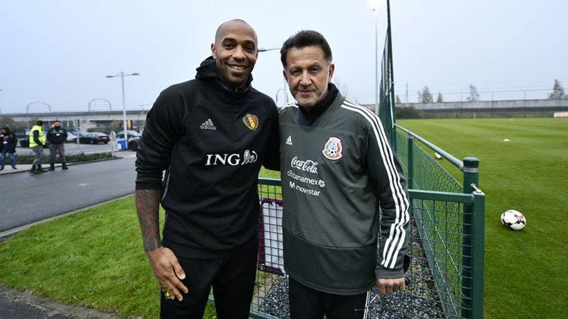 Thierry Henry visitó a la Selección Mexicana en Bélgica