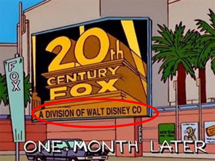 Los Simpson' predijeron hace 19 años que Disney compraría Fox