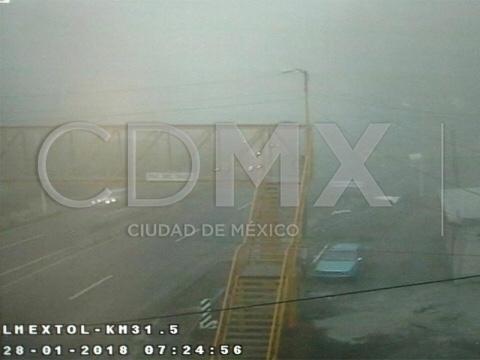 Persiste afectación a la visibilidad en carretera a Toluca por niebla