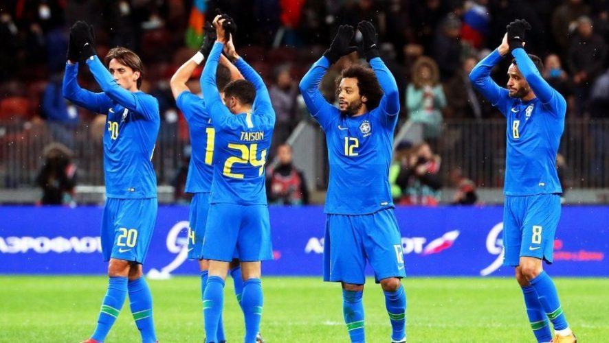 Brasil se probó sin Neymar y goleó a Rusia