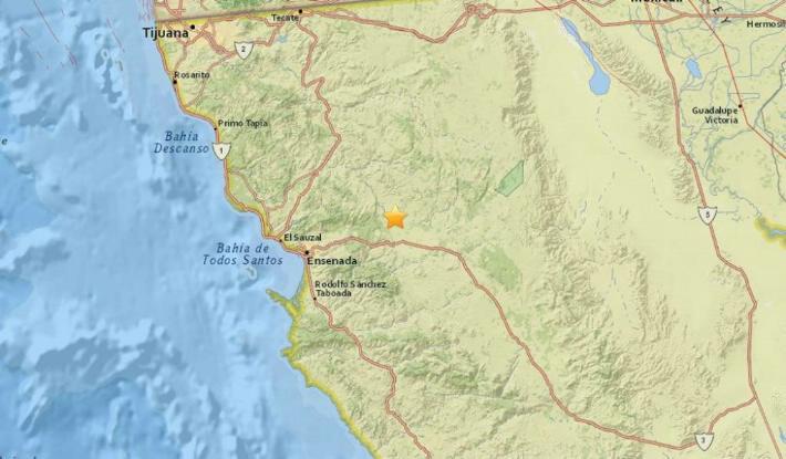 Se registra sismo en encenada Baja California