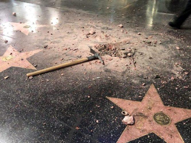 Estrella de Trump en Hollywood es destruida