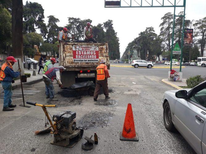 Continuará en Toluca trabajos de rehabilitación de vialidades