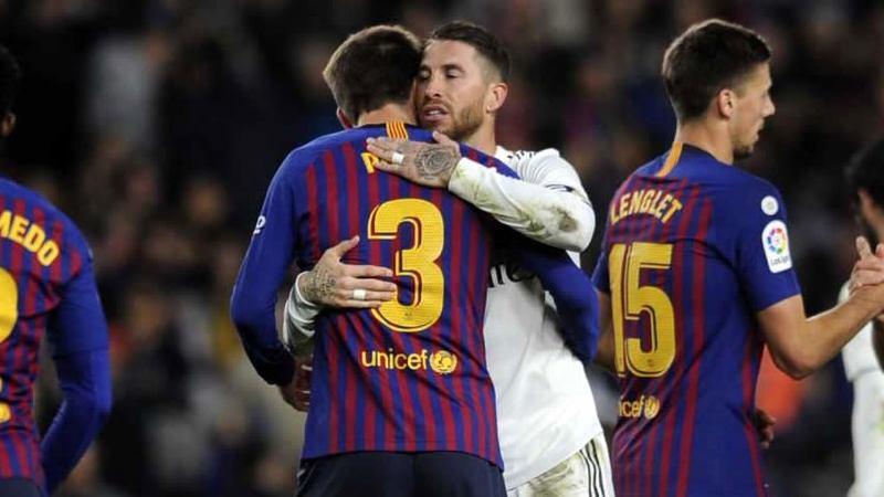Defiende Piqué de insultos a Sergio Ramos en el Camp Nou
