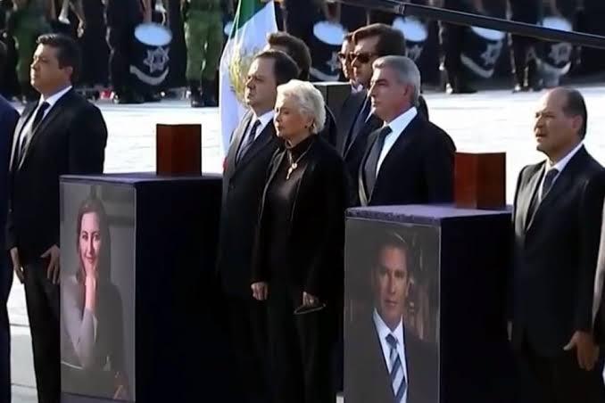 Gritan 'asesinos' y 'justicia' a Sánchez Cordero durante homenaje a la gobernadora muerta