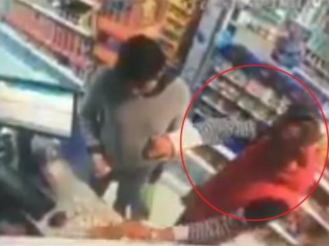 Asaltan tienda de abarrotes en Nativitas (VIDEO)