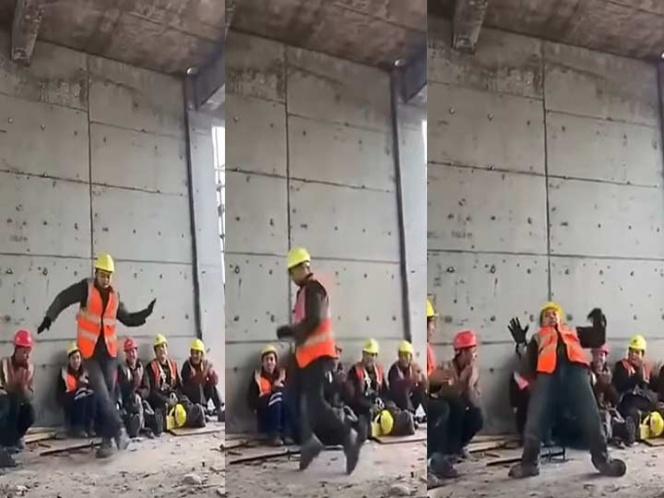 Obrero baila como Michael Jackson y se vuelve viral (VIDEO)