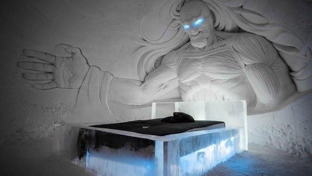 """Construyen hotel de hielo inspirado en la serie """"Games of Thrones"""""""