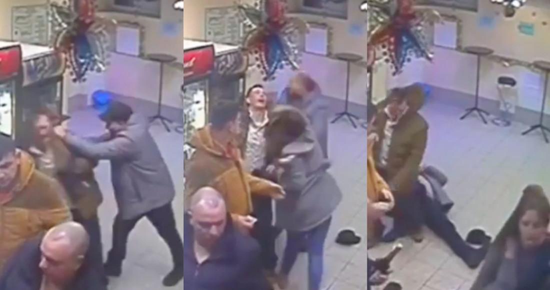 Noquea mujer a hombre agresivo (VIDEO)