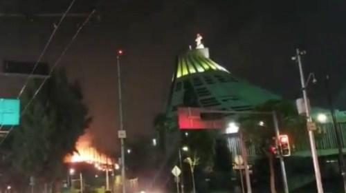 Incendio forestal cerca de la Basílica de Guadalupe. Noticias en tiempo real