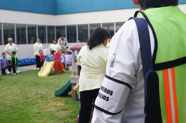 Participa guardería del IMSS Poniente en simulacro