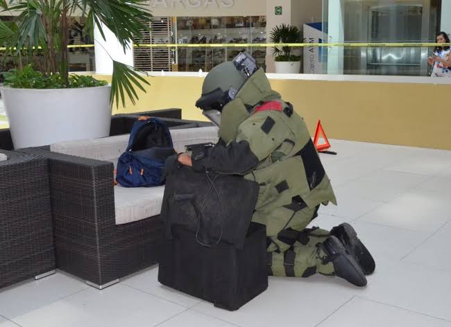 FGR Morelos participa en simulacro de amenza de bomba