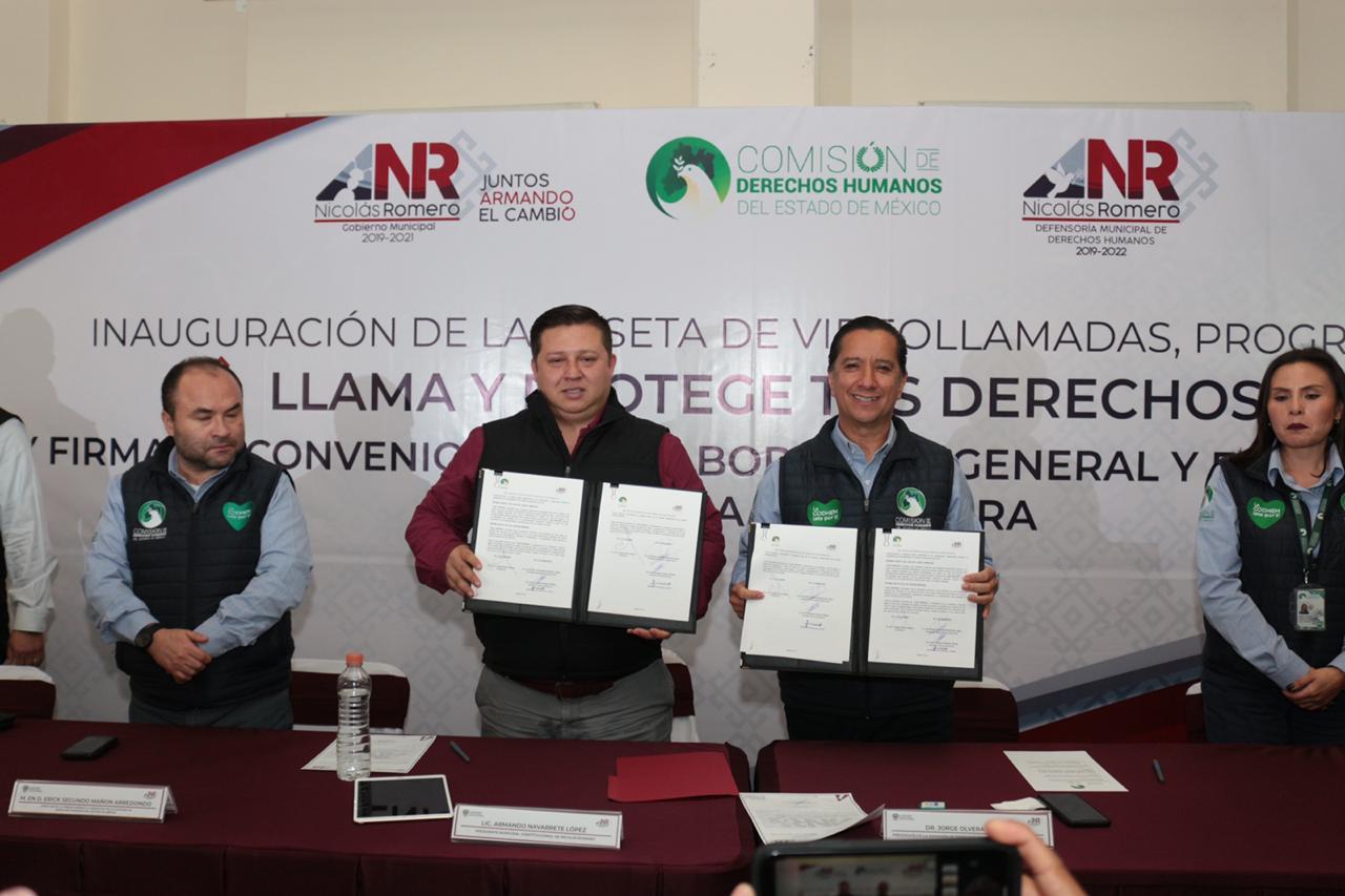 Inauguran caseta de videollamadas en Nicolás Romero