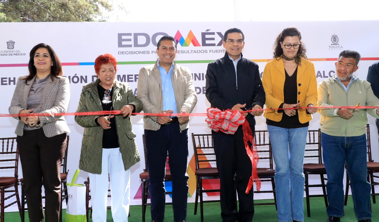 Inauguran Juan Rodolfo y Enrique Jacob rehabilitación del mercado municipal en La Cruz Comalco
