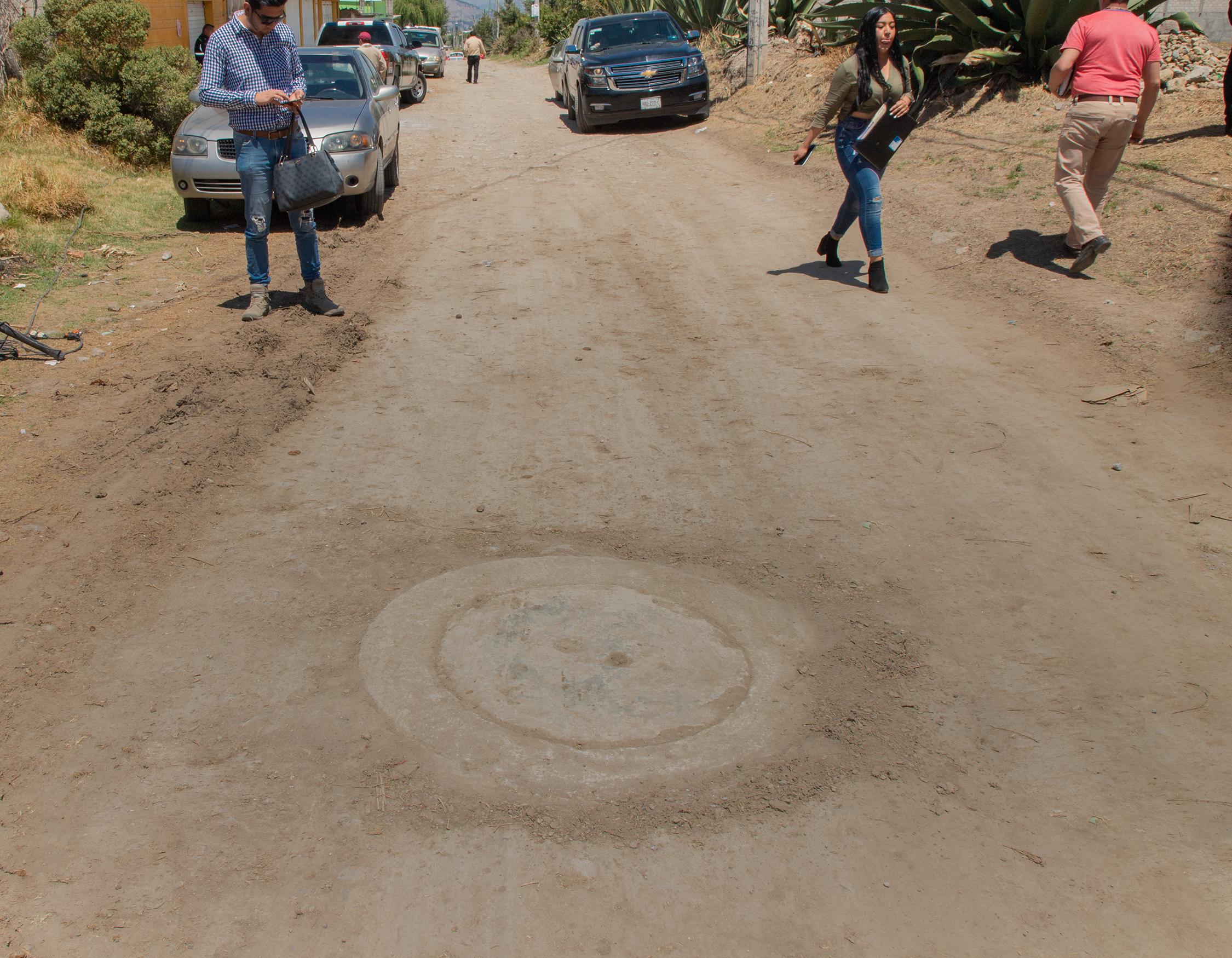 Obra de drenaje sanitario beneficia a 350 vecinos de Zinacantepec