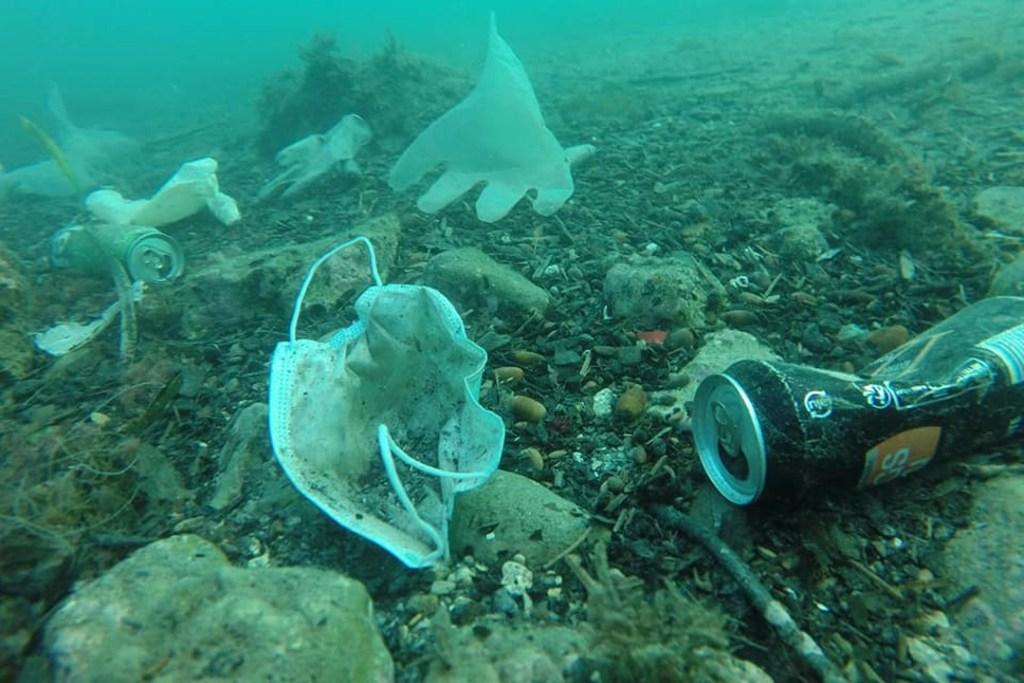 Mar Mediteráneo Basura Cubrebocas Contaminación Covid
