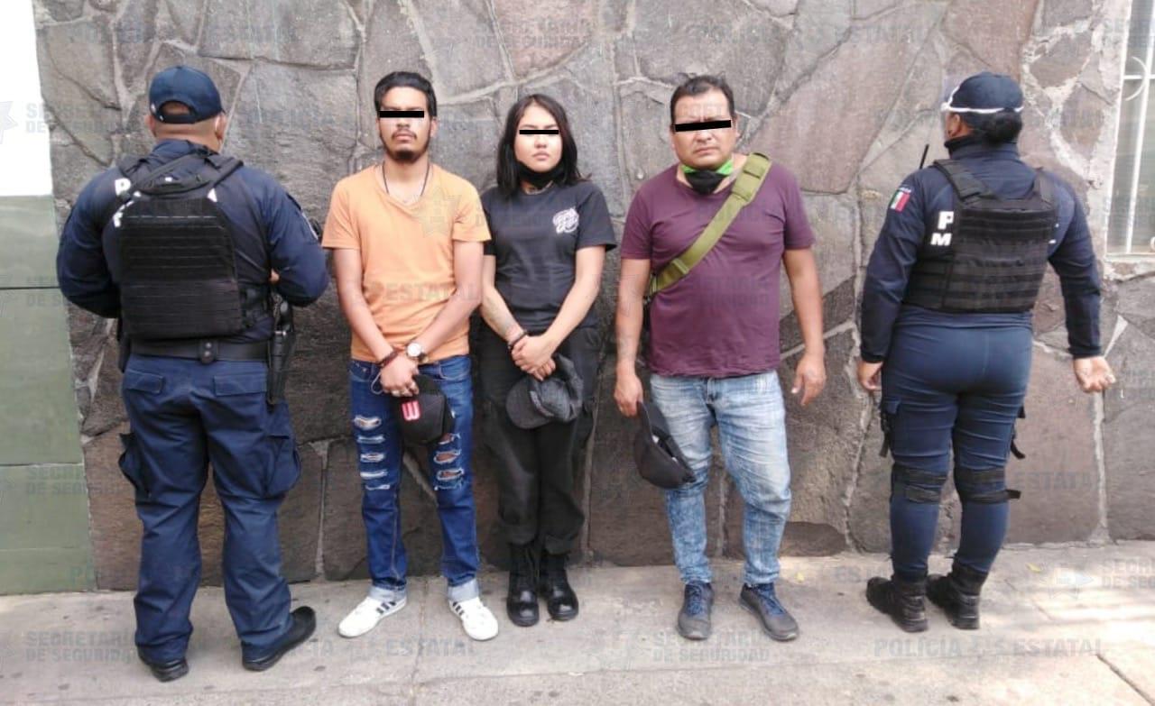 Detienen a tres extorsionadores ex funcionarios de Toluca en Zinacantepec
