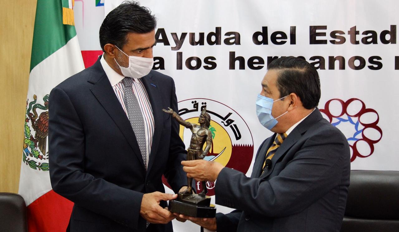 Apoya estado de Qatar con paquetes alimenticios a habitantes de Nezahualcóyotl afectados por la pandemia
