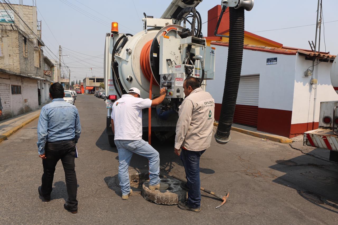 Metepec contempla limpiar aproximadamente 190 kilómetros de redes de drenaje